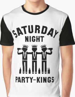 Saturday Night Party-Kings (Black) Graphic T-Shirt