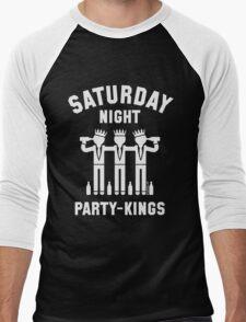 Saturday Night Party-Kings (White) Men's Baseball ¾ T-Shirt