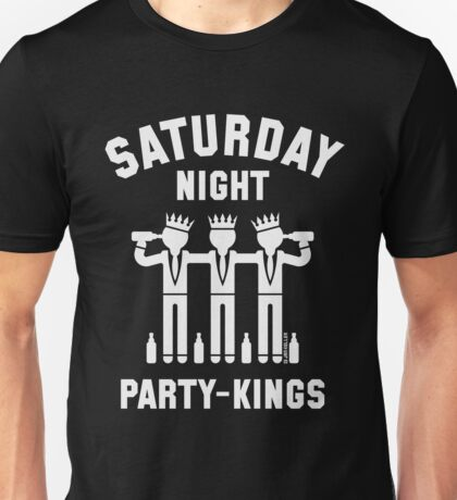 Saturday Night Party-Kings (White) Unisex T-Shirt