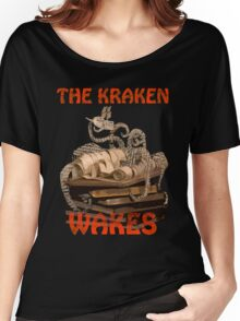 The Kraken Wakes steampunk book art Women's Relaxed Fit T-Shirt