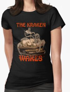 The Kraken Wakes steampunk book art Womens Fitted T-Shirt