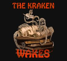 The Kraken Wakes steampunk book art Unisex T-Shirt