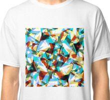 Modern Jagged Blue, Green, & Yellow Geometric Classic T-Shirt