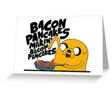 Bacon Pancakes Greeting Card