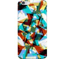 Modern Jagged Blue, Green, & Yellow Geometric iPhone Case/Skin