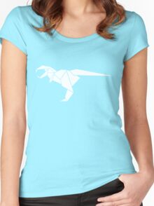 Origami T-Rex Women's Fitted Scoop T-Shirt