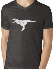 Origami T-Rex Mens V-Neck T-Shirt