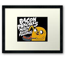 Bacon Pancake  Framed Print