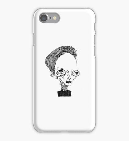 Portrait of a melancholy man #1 iPhone Case/Skin