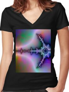 Electrical Current Women's Fitted V-Neck T-Shirt