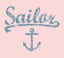 Sailor Anchor Vintage Sailing Design for Sailors One Piece - Short Sleeve