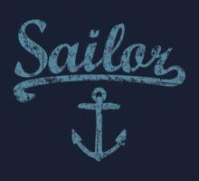 Sailor Anchor Vintage Sailing Design for Sailors Kids Tee