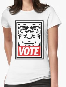 Bernie Obey Shirt - Shepard Fairey Endorses Bernie Sanders Womens Fitted T-Shirt