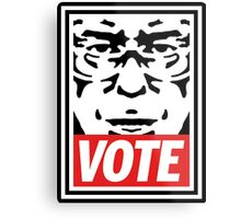 Bernie Obey Shirt - Shepard Fairey Endorses Bernie Sanders Metal Print