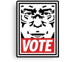 Bernie Obey Shirt - Shepard Fairey Endorses Bernie Sanders Canvas Print