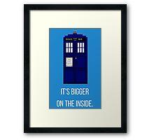 Doctor Who Tardis: It's Bigger on the Inside (Blue) Framed Print