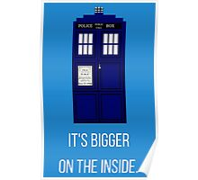 Doctor Who Tardis: It's Bigger on the Inside (Blue) Poster