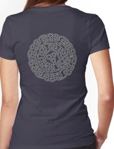 COMPLEX, KNOT, CELTIC, CELT, DRUID, Mandala Ireland, Irish, Eire, on Navy, Blue Womens Fitted T-Shirt