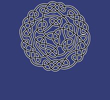 COMPLEX, KNOT, CELTIC, CELT, DRUID, Mandala Ireland, Irish, Eire, on Navy, Blue T-Shirt
