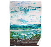 """Where Water meets Sky!"" - Big Original Wall Modern Abstract Landscape Art Painting Poster"