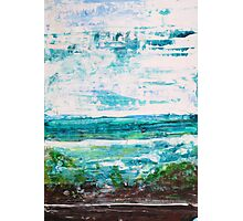 """""""Where Water meets Sky!"""" - Big Original Wall Modern Abstract Landscape Art Painting Photographic Print"""