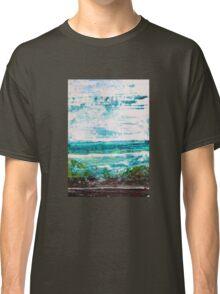 """Where Water meets Sky!"" - Big Original Wall Modern Abstract Landscape Art Painting Classic T-Shirt"