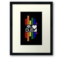 Dubstep Love Framed Print