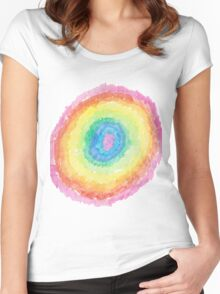 Rainbow circle - Little Designers Eddie Women's Fitted Scoop T-Shirt