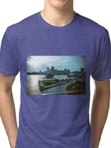 Baltimore Harbor City Skyline  Tri-blend T-Shirt