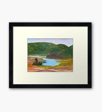 Green Mountain In Summer Framed Print