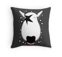 Kiss Bull Terrier Paul Stanley Throw Pillow