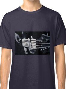 Hands Playing Bass Guitar  Classic T-Shirt