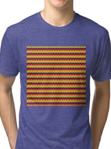 Fruit Tree Wave Pattern Tri-blend T-Shirt