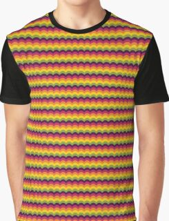 Fruit Tree Wave Pattern Graphic T-Shirt