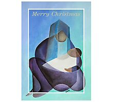Merry Christmas Virgin Mary And Child  Photographic Print