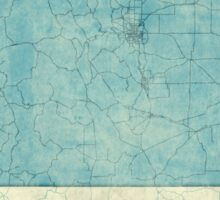 Colorado State Map Blue Vintage Sticker