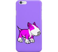 Cute English Bull Terrier Cartoon White & Pink iPhone Case/Skin