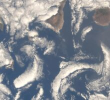 Cloud vortices in the area of the Canary Islands in the North Atlantic Ocean. Sticker