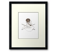 The hunt for the white whale Framed Print
