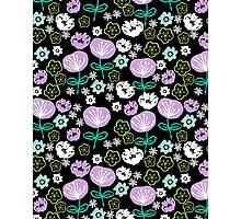 Flowers - black love lilac pastel by andrea lauren Photographic Print
