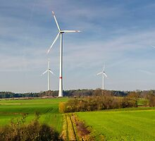 Windpark, Bavaria, Germany. by David A. L. Davies