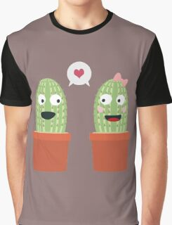 Cacti in love Graphic T-Shirt