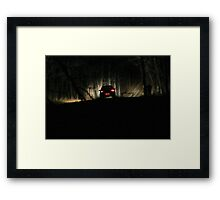 A Ghost in the Darkness Framed Print