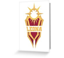 Leona's Shield  Greeting Card
