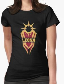 Leona's Shield  Womens Fitted T-Shirt