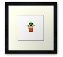 Nerd cactus Framed Print