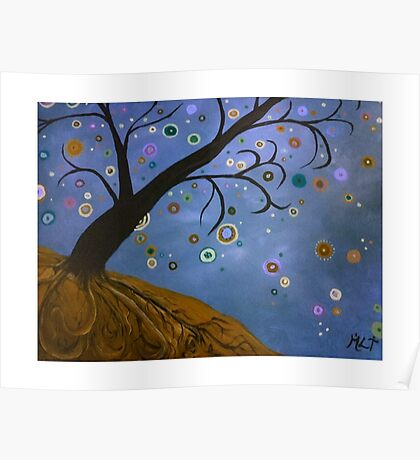 Magical Mystical Tree Brown Poster