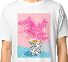 No Can Do - potted plant art indoor desert graphic imagery throwback 1980s style memphis neon  Classic T-Shirt