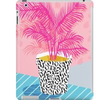 No Can Do - potted plant art indoor desert graphic imagery throwback 1980s style memphis neon  iPad Case/Skin