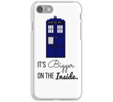 Doctor Who Tardis: It's Bigger on the Inside (Script) iPhone Case/Skin